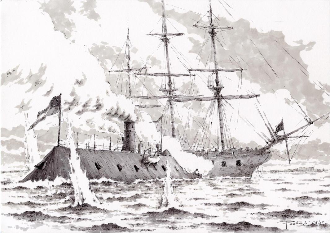 CSS Virginia vs USS Cumberland 2017 by Radomski
