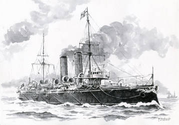 HMS Blake [1889] by Radomski