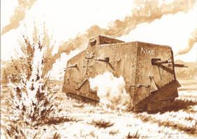 Villers-Bretonneux, 24 April 1918 - A7V Nixe by Radomski
