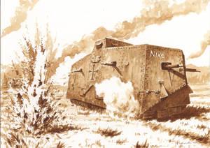 Villers-Bretonneux, 24 April 1918 - A7V Nixe