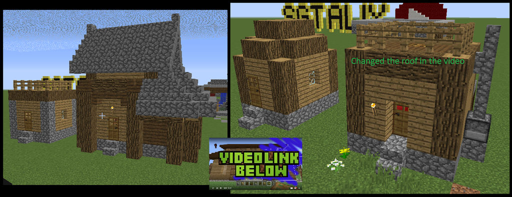 Minecraft Village Remodel Dirt Small House By Sgt Alix Mc On