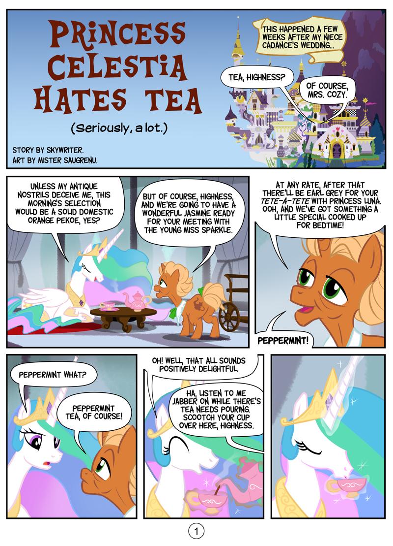 Princess Celestia hates tea - page 1