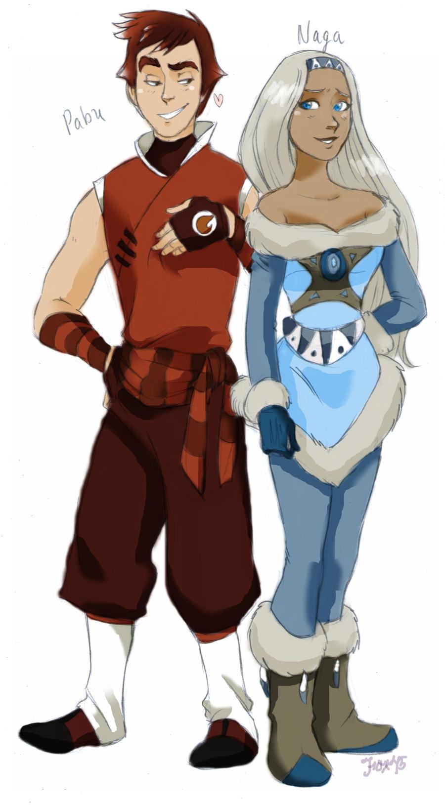 Pabu and Naga by Foxsnout45