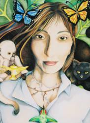 Francesca In Her Garden by FlyingFishtail