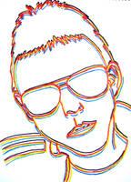 Neon Top Gun Glasses - white by Samtheengineer