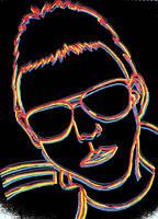Neon Top Gun Glasses - black by Samtheengineer
