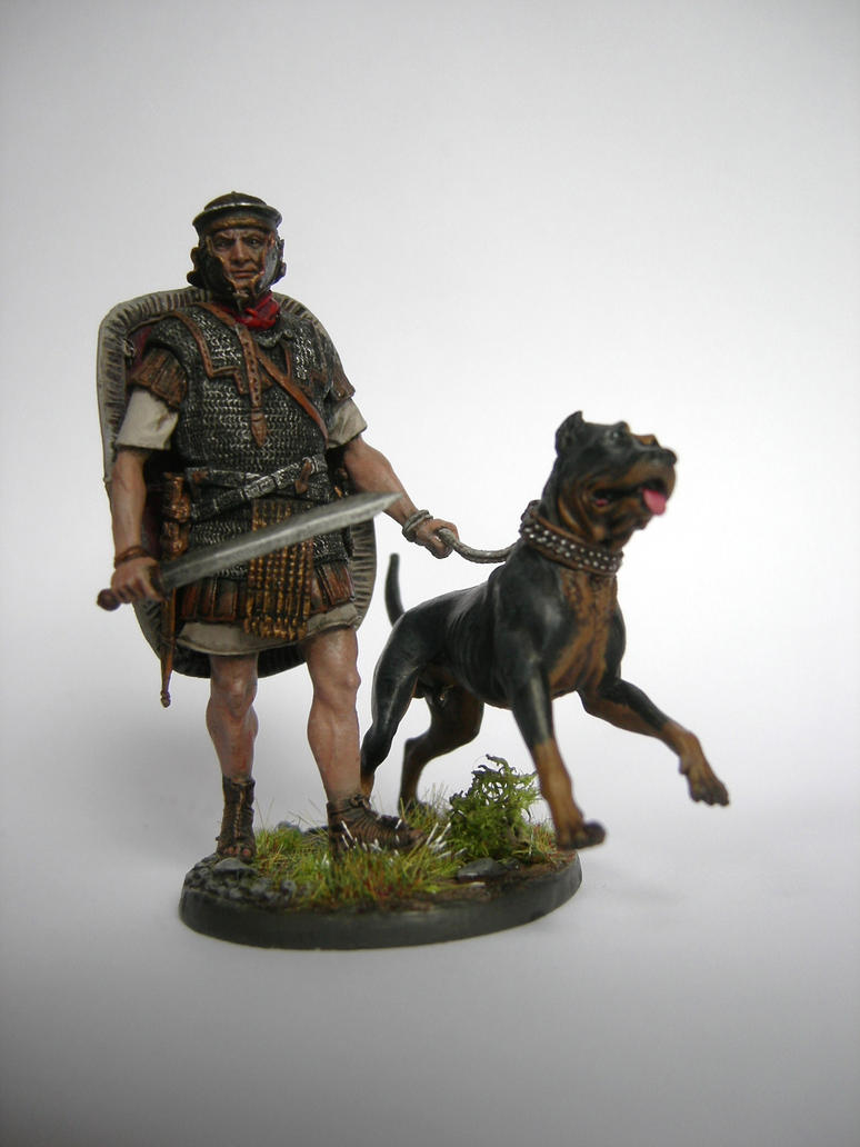 Roman soldier with war dog 1 by froggywoggy11