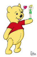 Unlikely Couple Pooh and Tink by ColourBUG