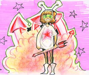 Rocket girl by lozfitzy