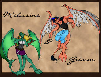 Melusine and Grimm colors by chaosdestine