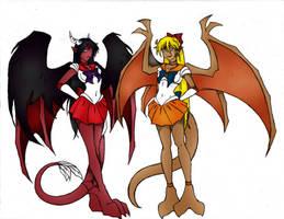 Sailor-Gargs Mars and Venus by chaosdestine