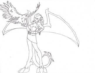 Melusine's Hawk by chaosdestine