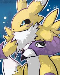 Renamon - Day 1098 by Seracfrost