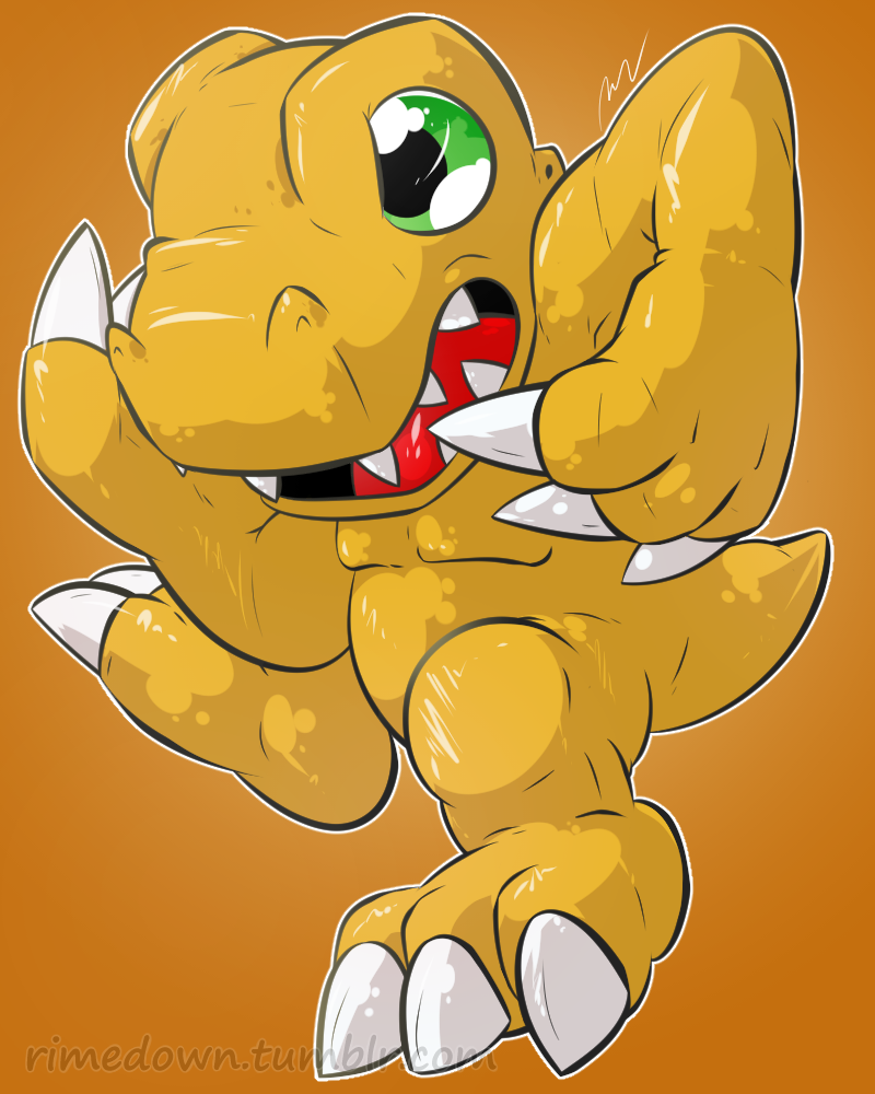 Agumon - Day 1276 by Seracfrost
