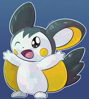 Emolga - Day 1349 by Seracfrost