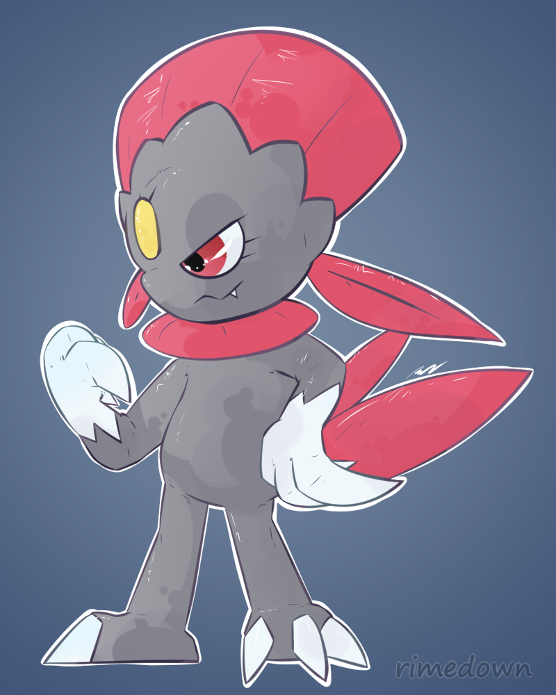 Weavile - Day 1496 by Seracfrost