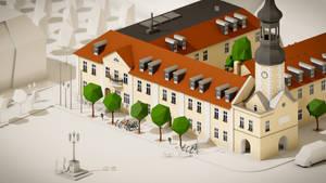 Spremberg townhall - low poly