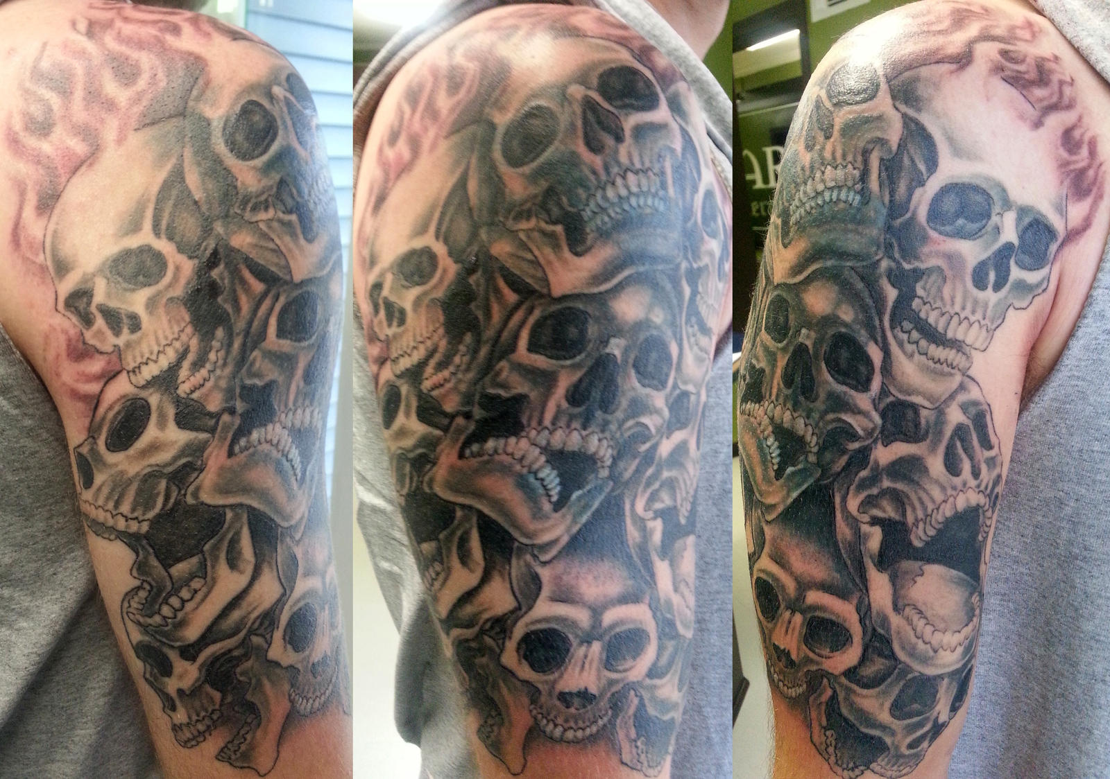 pile of skulls tattoos images galleries with a bite. Black Bedroom Furniture Sets. Home Design Ideas
