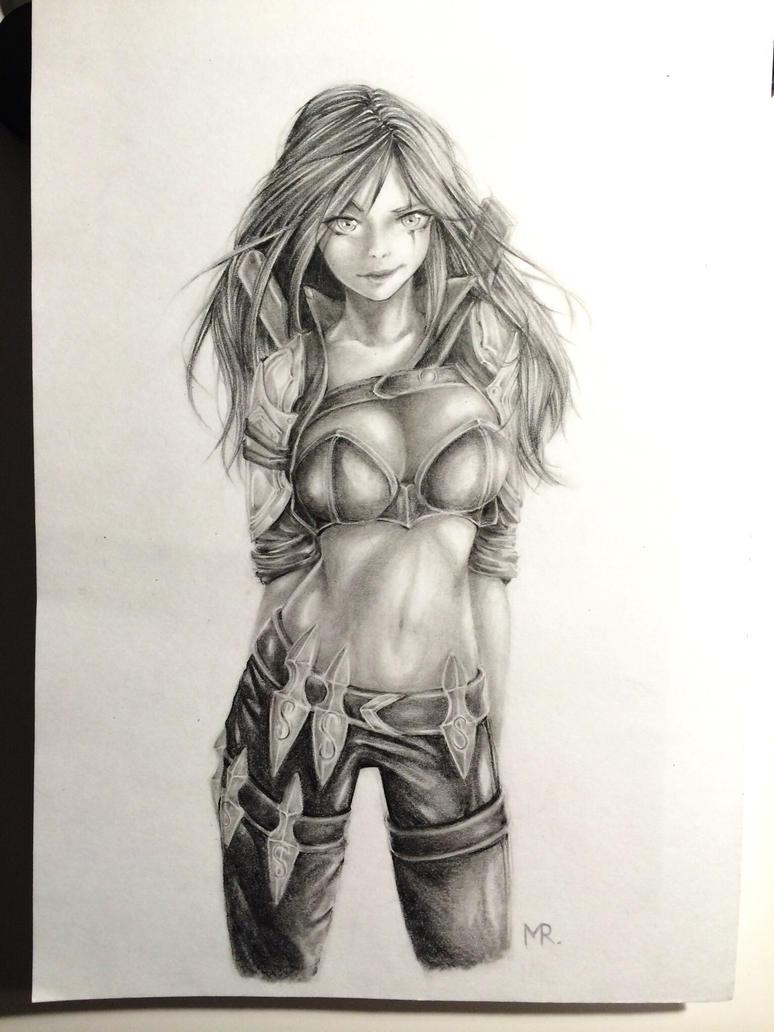 .:League of Legends:. Katarina by Majkarogo