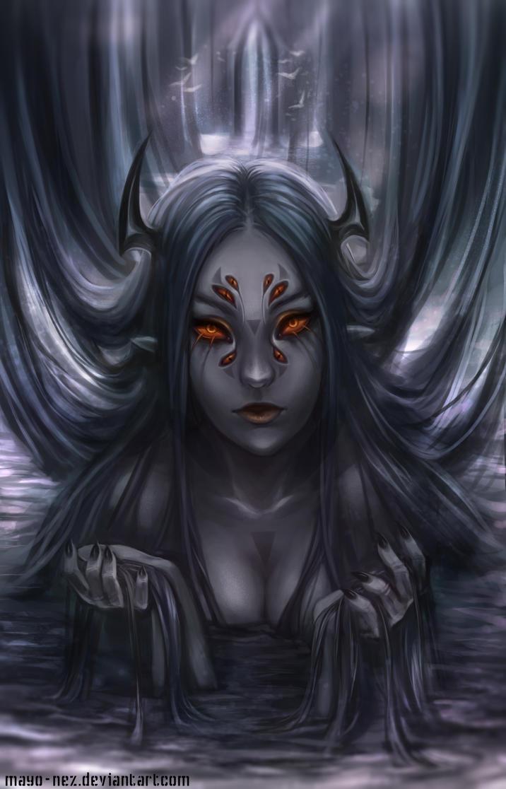 Queen of dark waters by Majkarogo