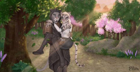 Commission of Khajiit in Auridon by EllixEnchantments
