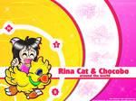 Rina and Chocobo wallpaper