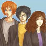 Ron, Harry, Hermione