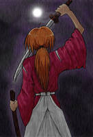 Kenshin in the Rain by BeckiebooTwo