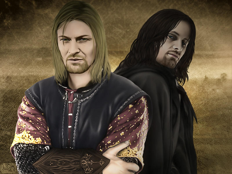 Aragorn and Boromir by theband