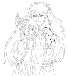 Inuyasha and Jane :lineart: