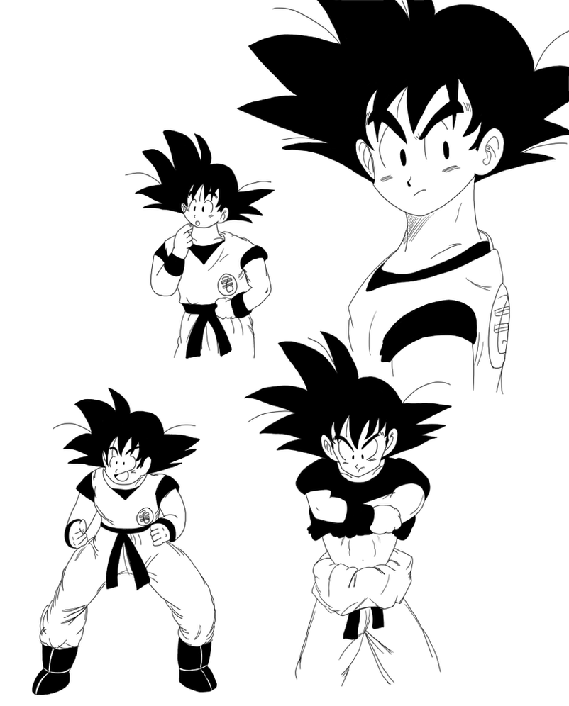 goku with references by chuquita on deviantart