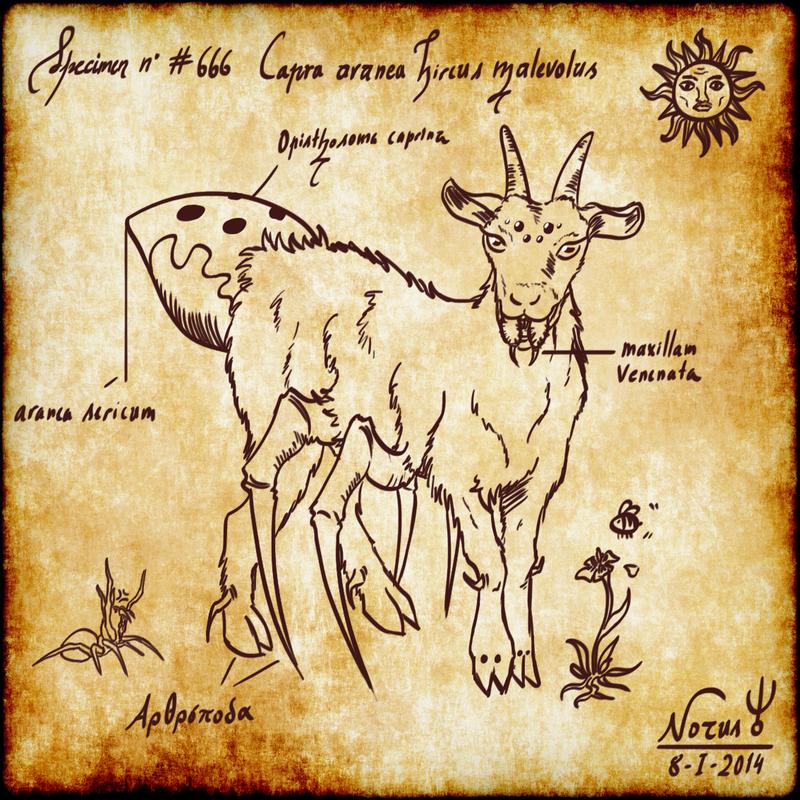 Specimen #666: SPIDER-GOAT by Zephind