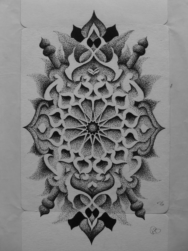 First Dotwork by Transcendentalny-P