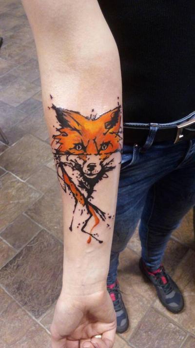 fox tattoo  by Transcendentalny-P