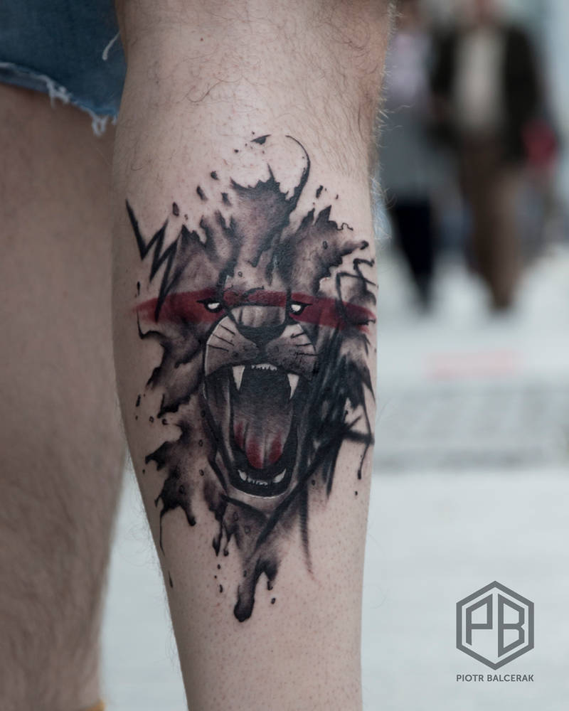 7b55e817c440e Abstract lion tattoo by Transcendentalny-P on DeviantArt