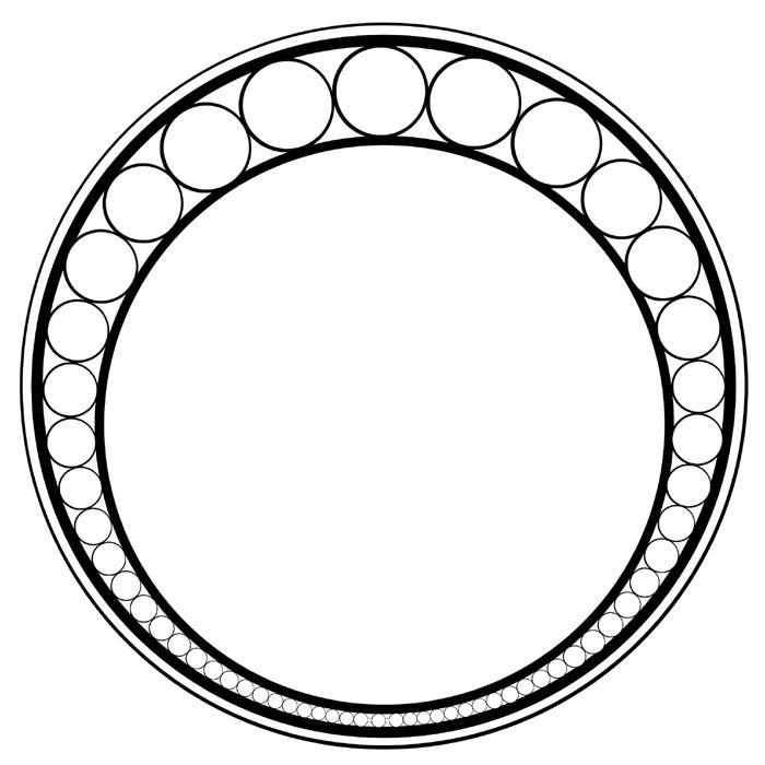 Circle Design Art : Art nouveau border circle imgkid the image kid