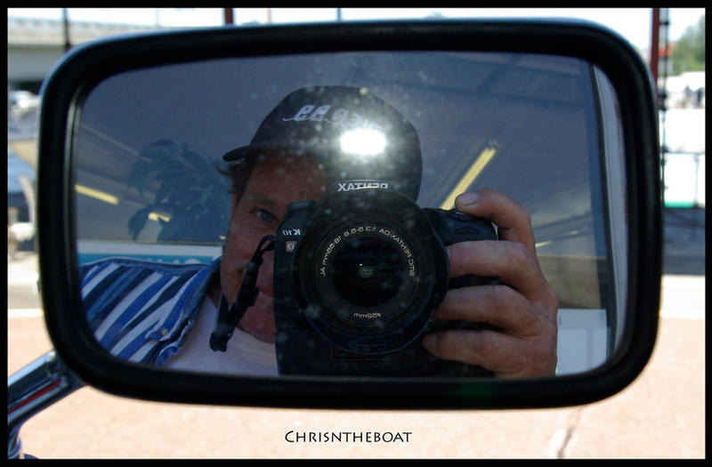 chrisntheboat in a mirror...