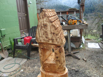 First chainsaw carving