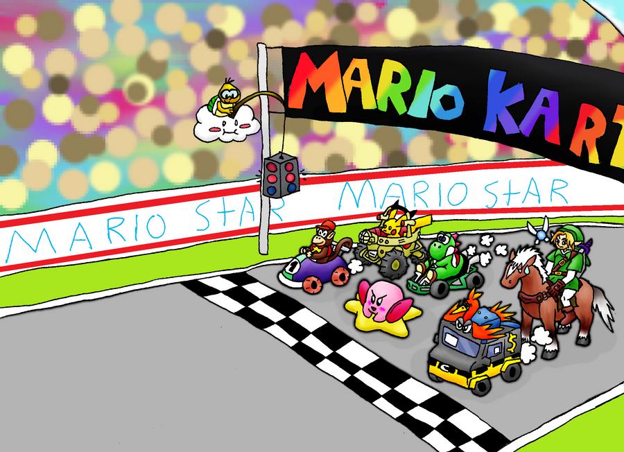 N64: Mega Mario Kart Race by Chari-Artist