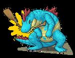 Croconaw used CRUNCH! by Chari-Artist