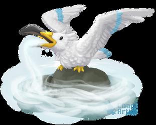 Wingull used Mist! by Chari-Artist