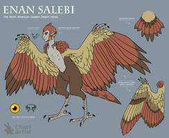 Enan Salebi [2018 Ref Sheet] by Chari-Artist