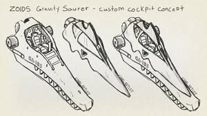 Zoids: Gravity Saurer Custom Cockpit Concept