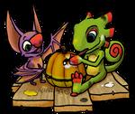 Yooka Laylee Halloween by Chari-Artist