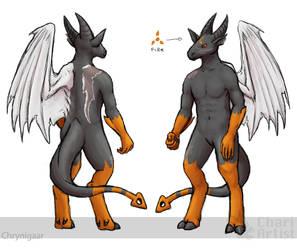 Chrynigaar - Demon Form [2017 Ref] by Chari-Artist