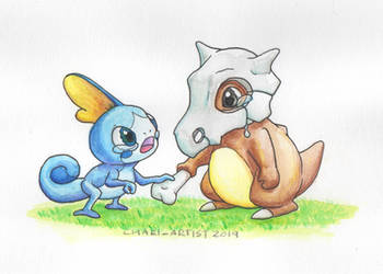 Sobble and Cubone by Chari-Artist