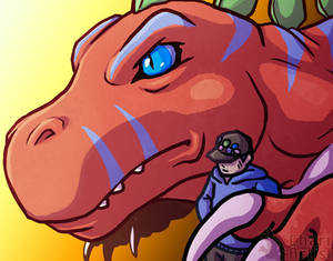 Hey Digimon! - Tamer and Tyrannomon