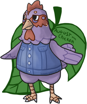 August the Chicken: Animal Crossing Style