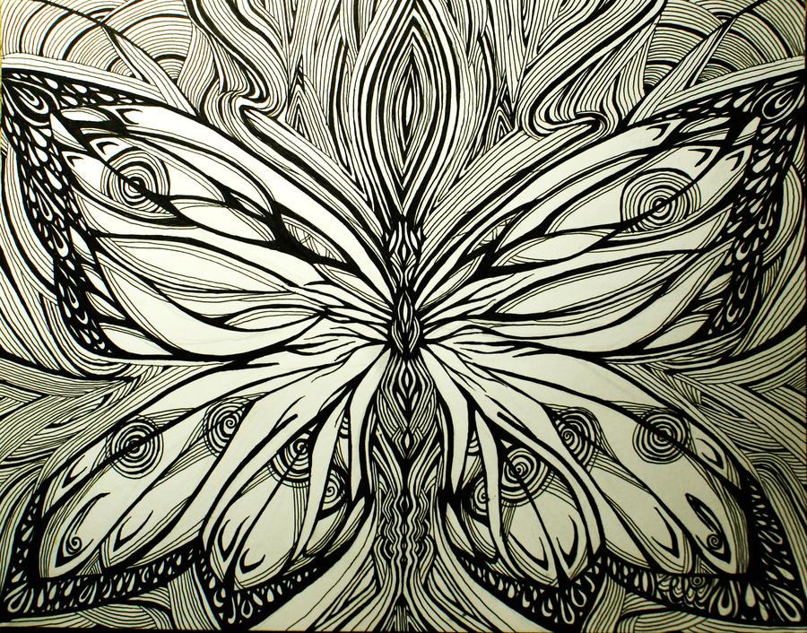 Line Art Of Butterfly : Butterfly line art by keli motioncityx on deviantart