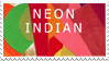 neon indian stamp by NarwhalNonsense